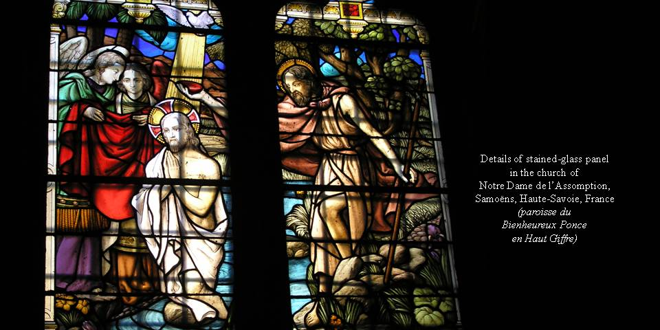 Baptism Stained-glass photo by Michele Szekely