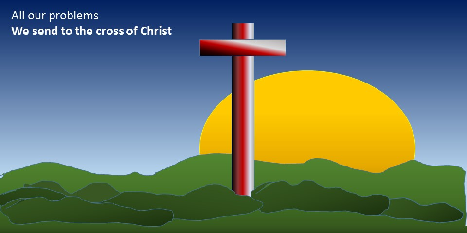 all our problems we send to the cross, by Micheleszek